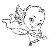 Vektorové ilustrace se Baby Amor střelba lukem