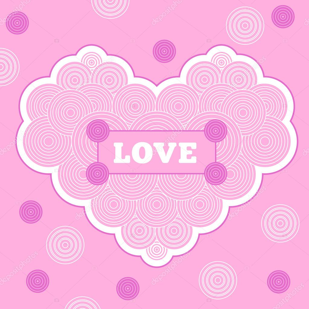 Carte Rose Pour La Saint Valentin Dessin Au Trait Image