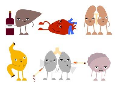 diseased  human organs.