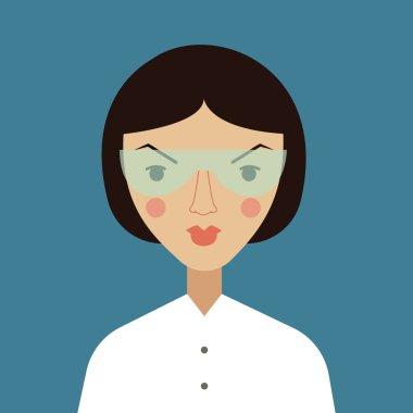 cartoon woman scientist