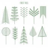 Lesní stromy sada