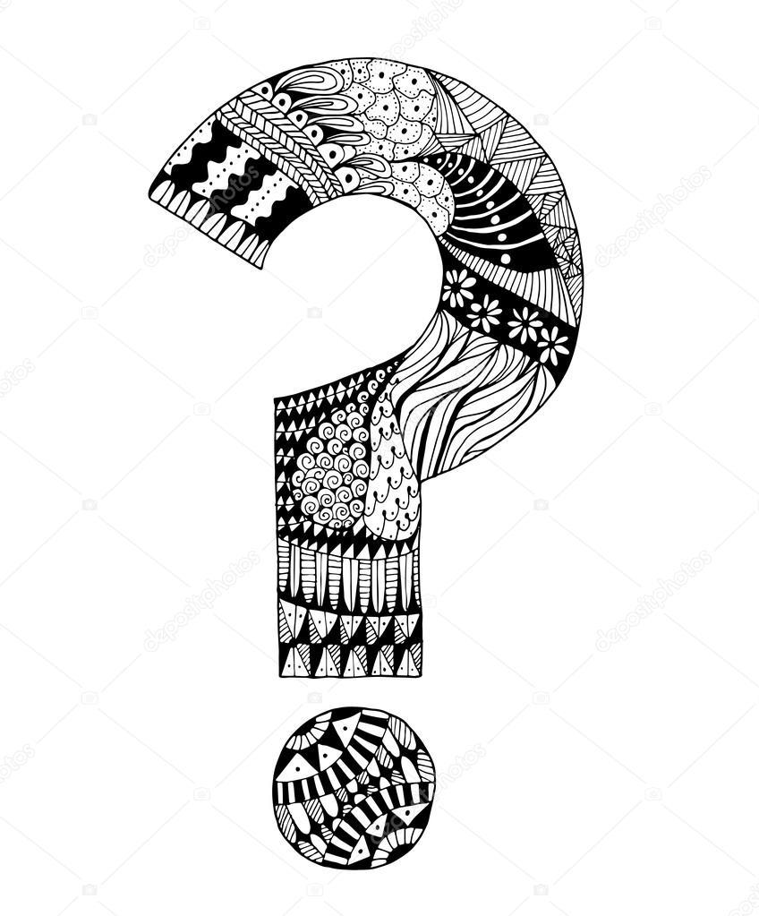Ręcznie Rysowane Znak Zapytania Grafika Wektorowa