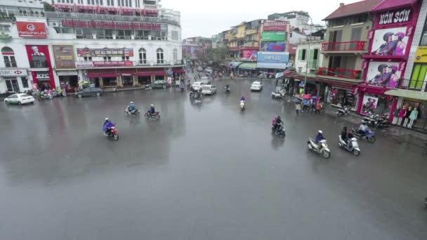 Hanoi, Vietnam - 07 March 2015: Road traffic in Hanoi