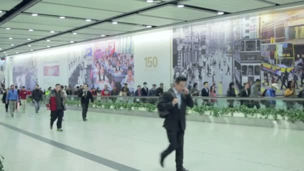 China, Hong Kong - 04 March 2015: People In Metro Transition