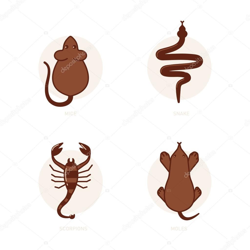 Mice, snake, scorpion, mole