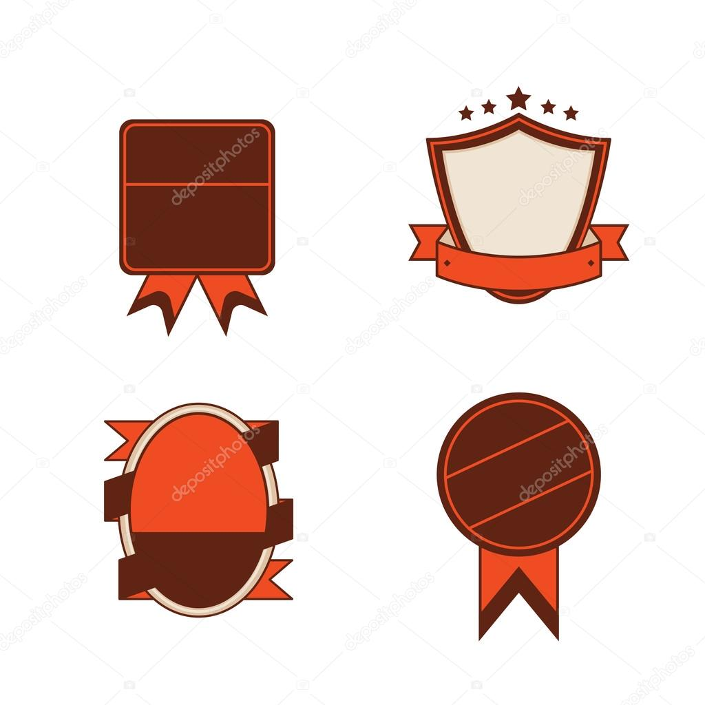 Blank Vintage Retro Classic Badge Template 3 Stock Vector
