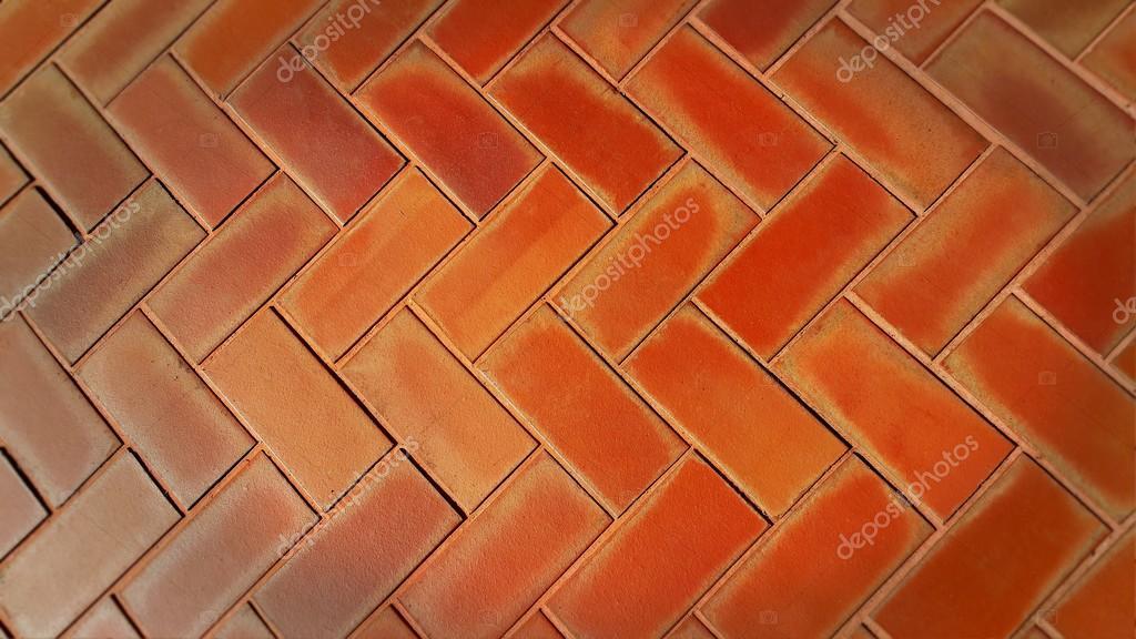 Piso de ladrillo rojo dise o geom trico fotos de stock - Patio piso de ladrillo ...
