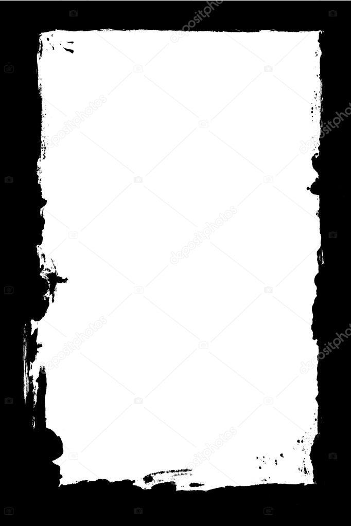 Tinta negra aislada marco textura — Fotos de Stock © Reddavebatcave ...