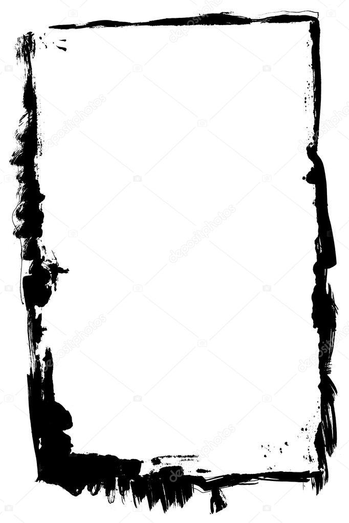 Tinta negra aislada marco textura — Foto de stock © Reddavebatcave ...