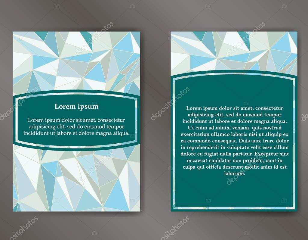 Abstrakte Broschüre oder Flyer Entwurfsvorlage. Buch-design, leer ...