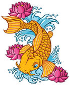 Photo Koi fish tattoo illustration.