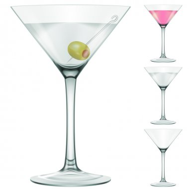 Martini glass, four versions.