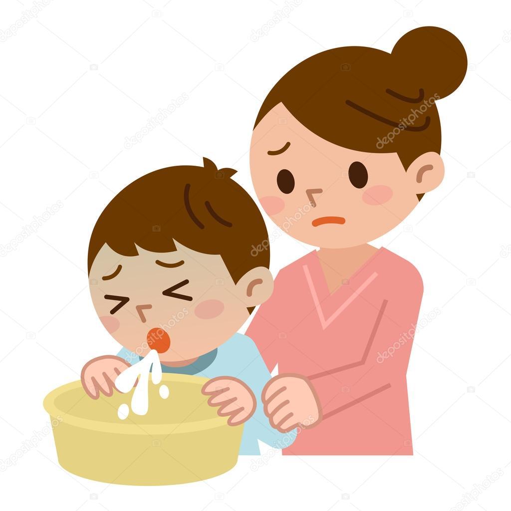Resultado de imagen de niño vomitando