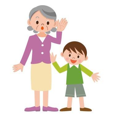 Senior woman hard of hearing