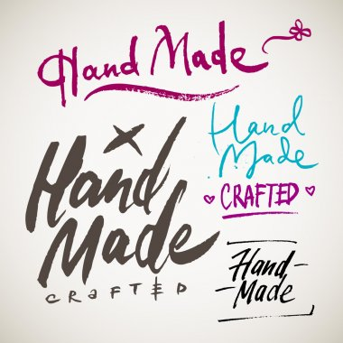 HAND MADE crafted words
