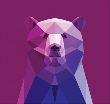 bear made wit triangles