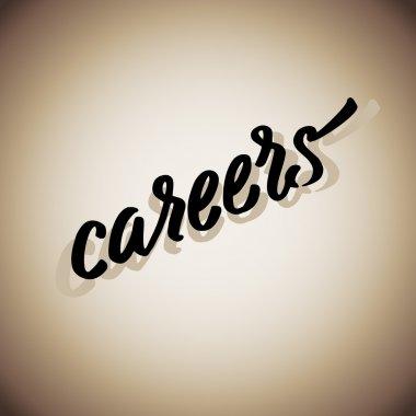 Careers word lerrering