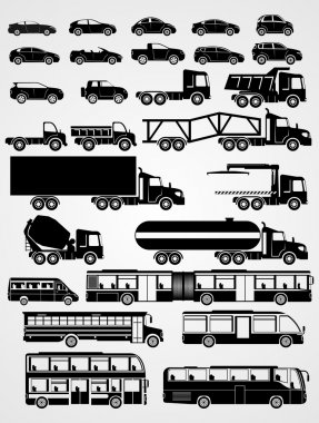 Transport and vehicle set