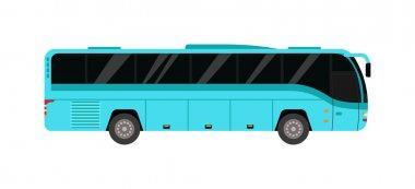 City bus vector illustration.