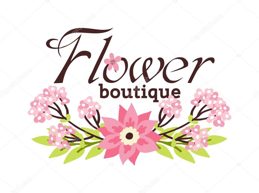 Floral boutique vector illustration.