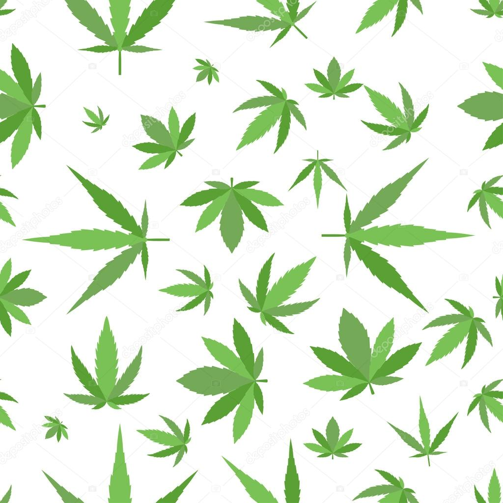 Marijuana background vector set.