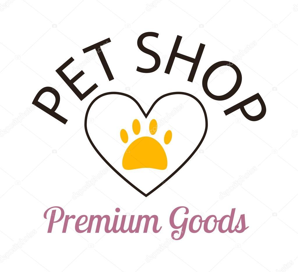 Pet Shop Symbols Vector Stock Vector Luplupmeail 114449646