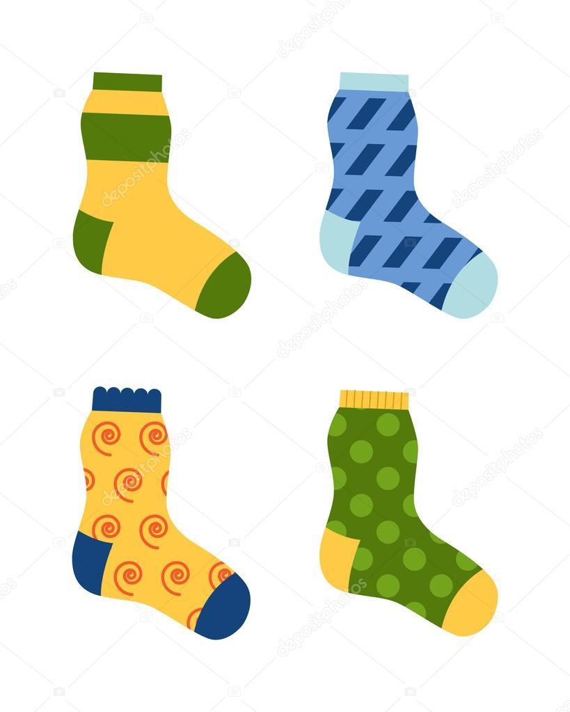 0c0706d6f66c4b Socken Vektor-illustration. — Stockvektor © luplupme.gmail.com ...