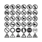 Fotografie prohibiting signs set vector illustration