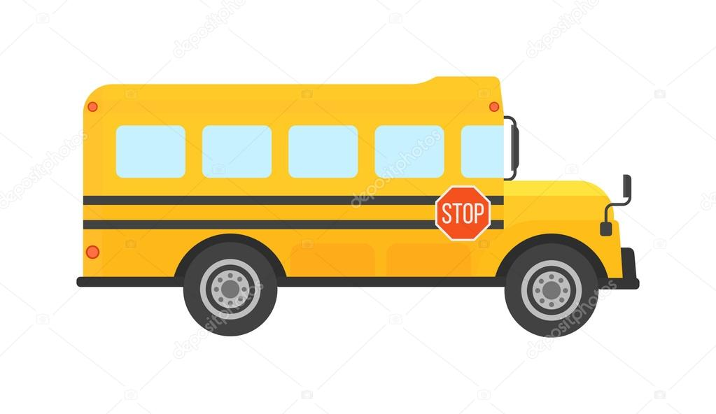 school bus vector isolated stock vector luplupme gmail com rh depositphotos com school bus vector black and white school bus vector ai