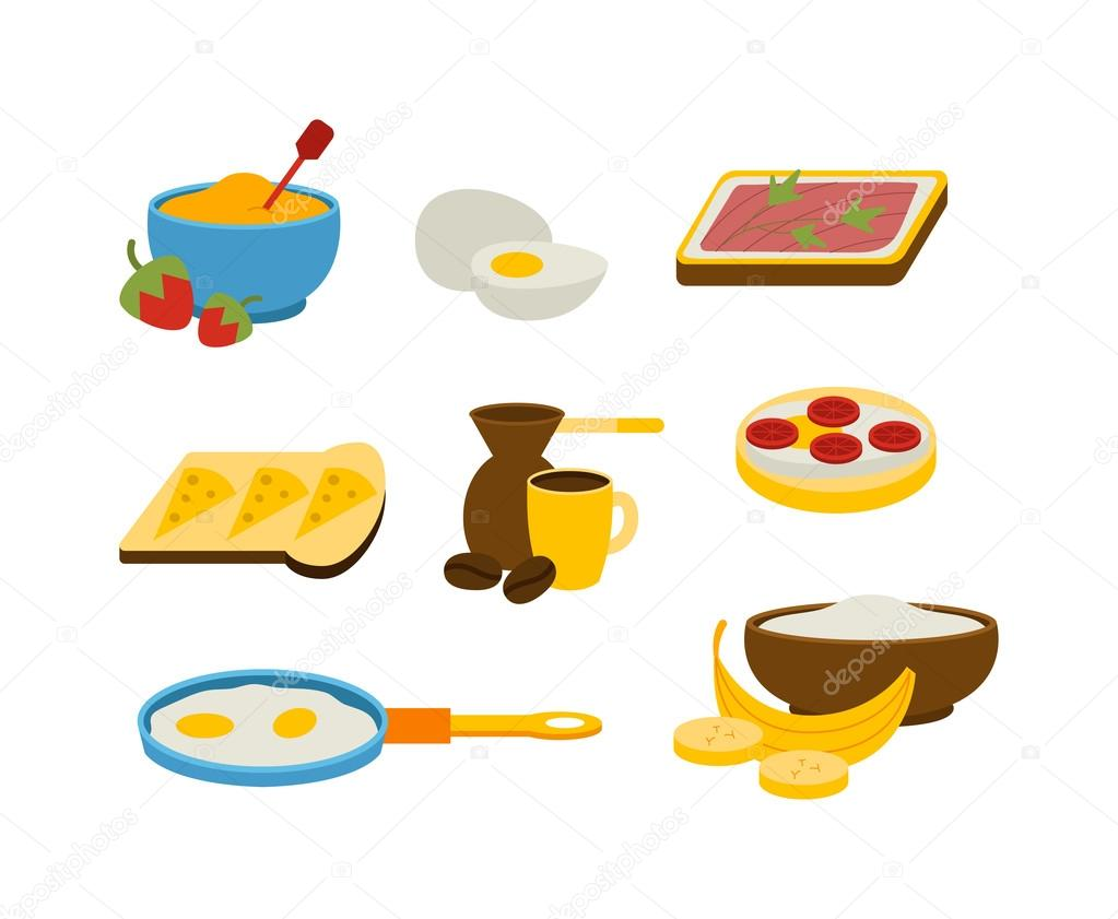 Healthy breakfast vector — Stock Vector © luplupme.gmail ...