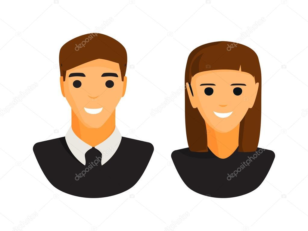 Icono De Silueta De Hombre Y Mujer
