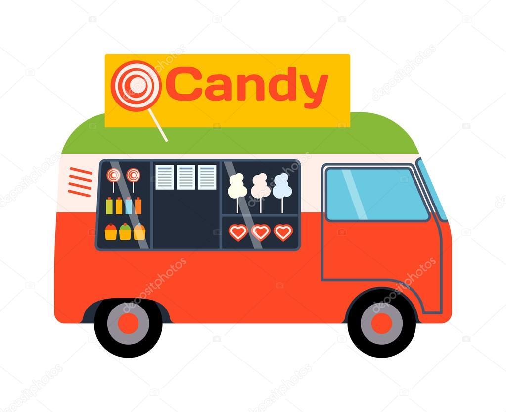 Vettore di cibo del camion rimorchio vettoriale stock 118701776