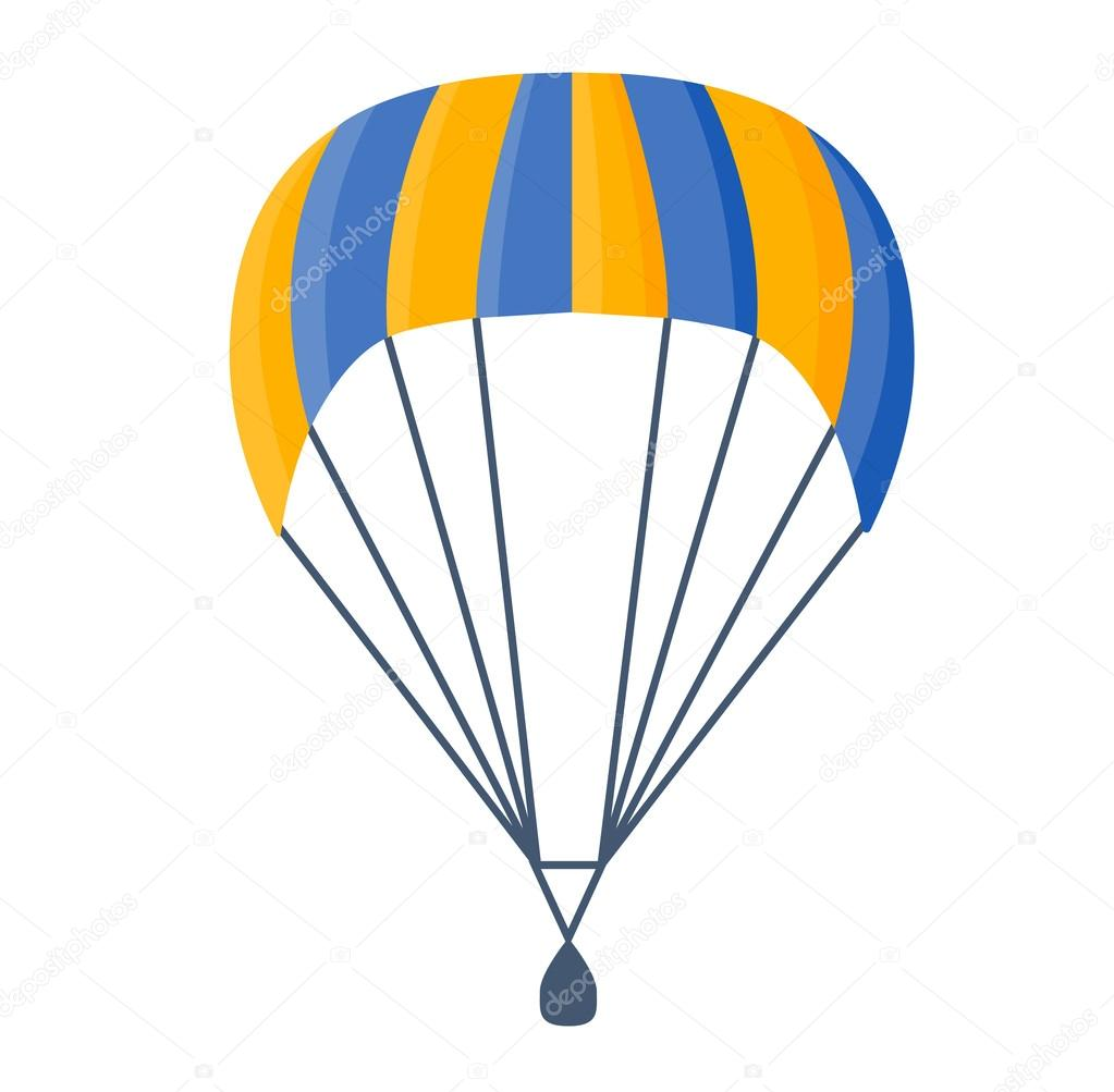 parachute vector illustration fly stock vector luplupme gmail rh depositphotos com parachute vector micron parachute vector graphics