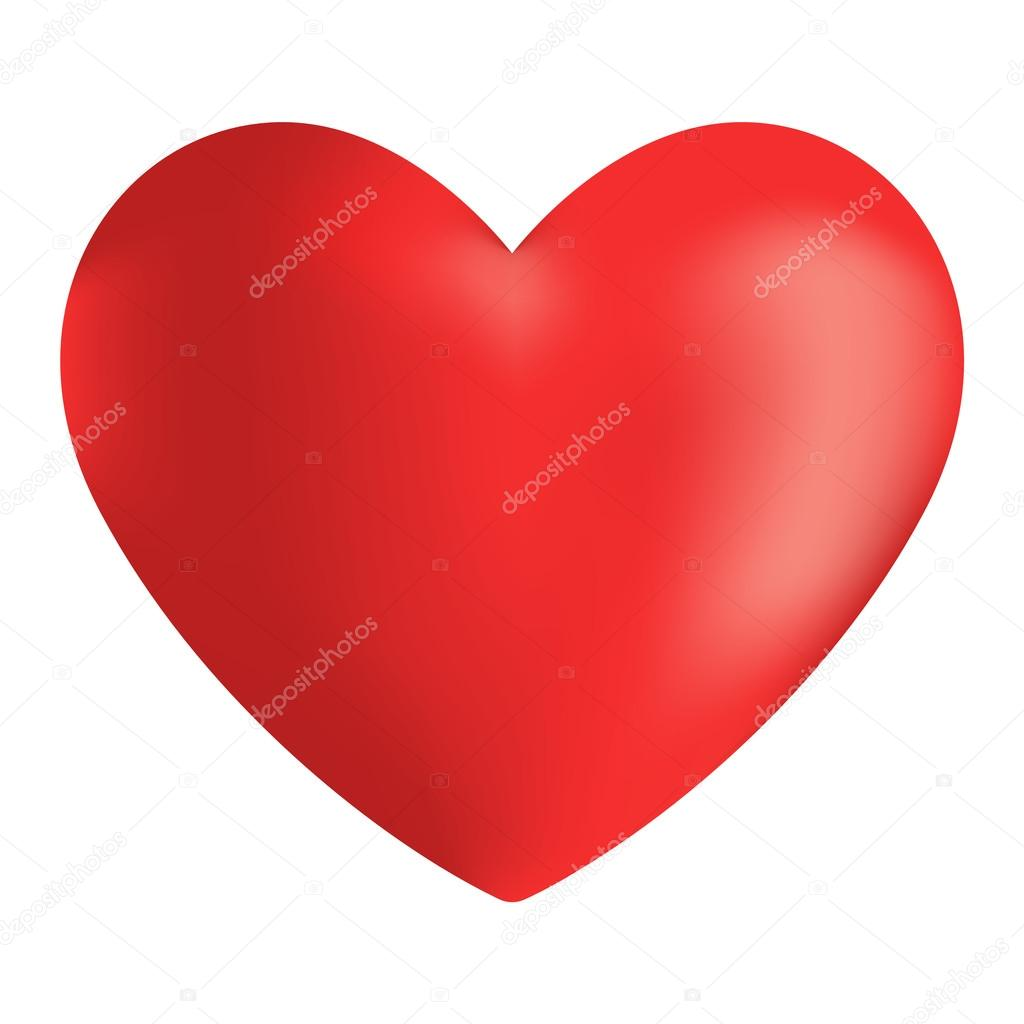 red heart vector icon stock vector luplupme gmail com 119860676 rh depositphotos com heart vector image free human heart vector image