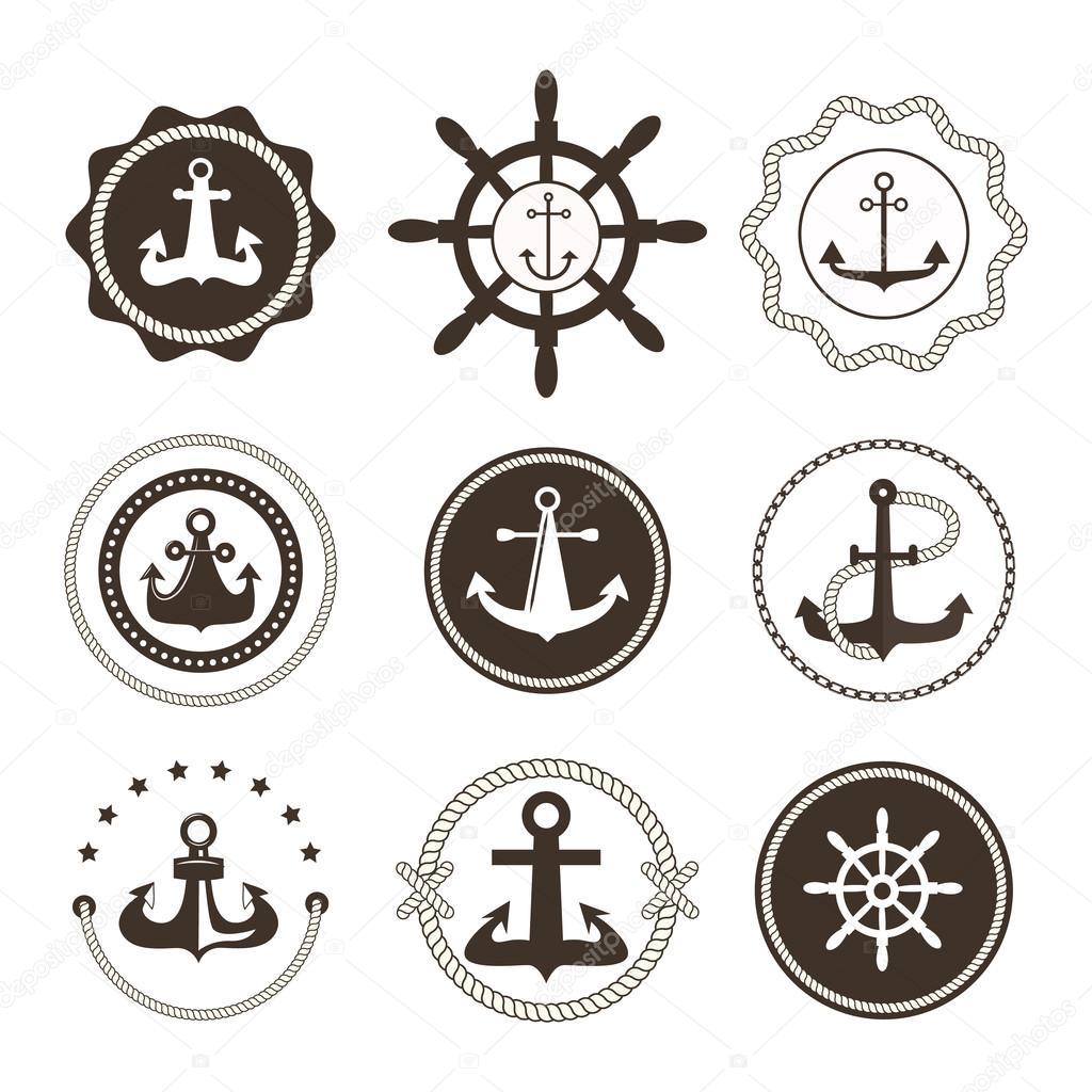 anchor symbols vector badge � stock vector 169 luplupme
