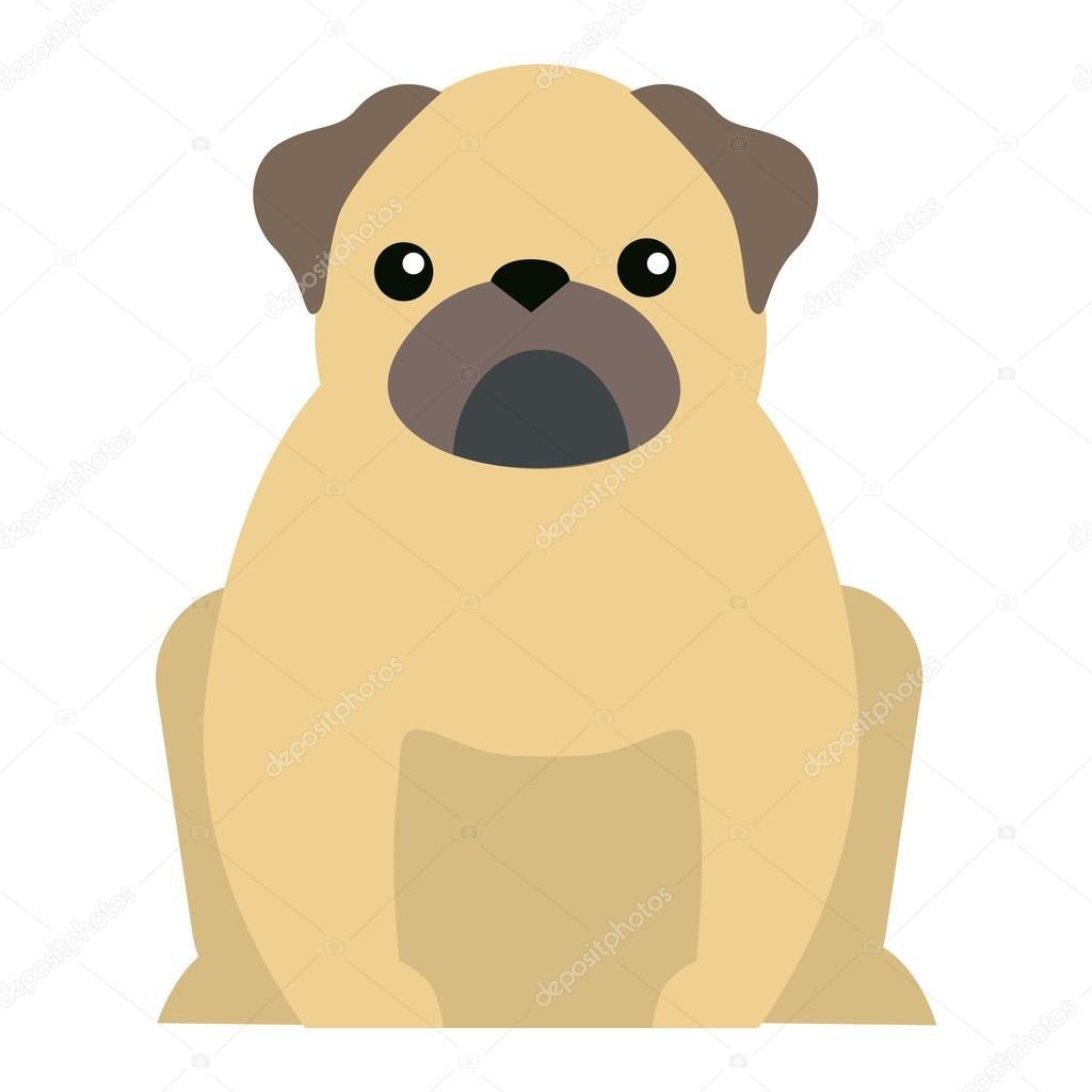 Flat Dog Pet Sitting Cute Vector Stock Vector C Luplupme Gmail Com