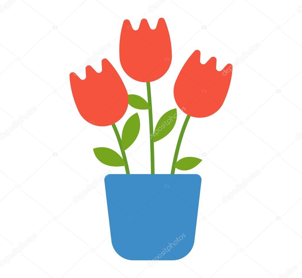 Maison Fleur En Vecteur De Pot Image Vectorielle Luplupme Gmail