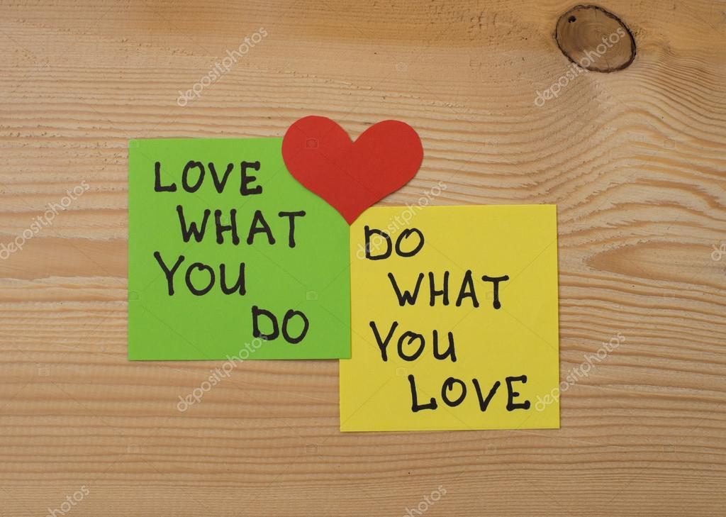 I love my job concept ⬇ Stock Photo, Image by © plysuikvv