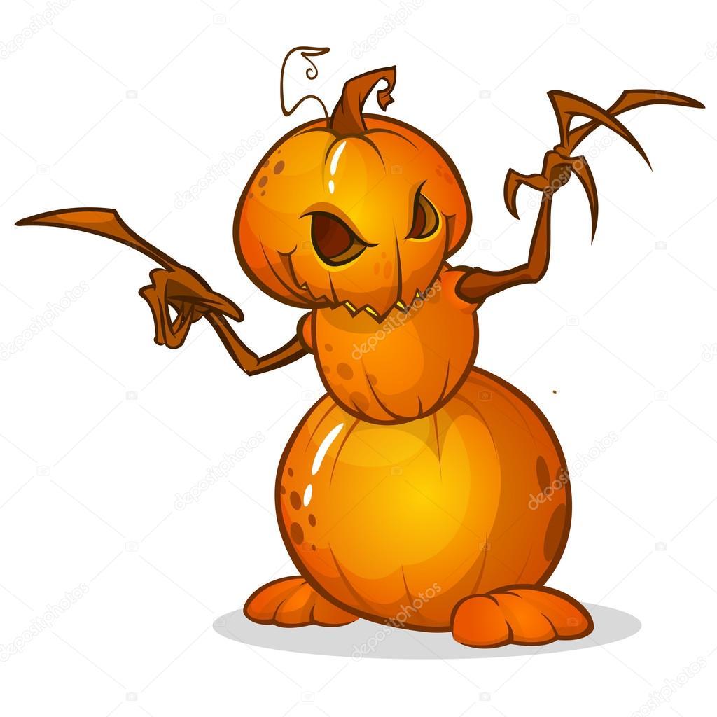 Pouvantail de dessin anim halloween avec t te de citrouille personnage de dessin anim de - Tete de citrouille ...