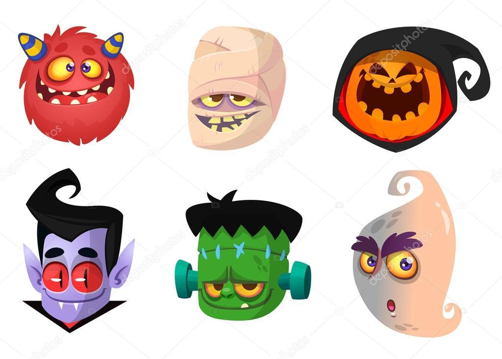 halloween caracteres de conjunto de iconos dibujos clipart zombie horse clip art zombie gif