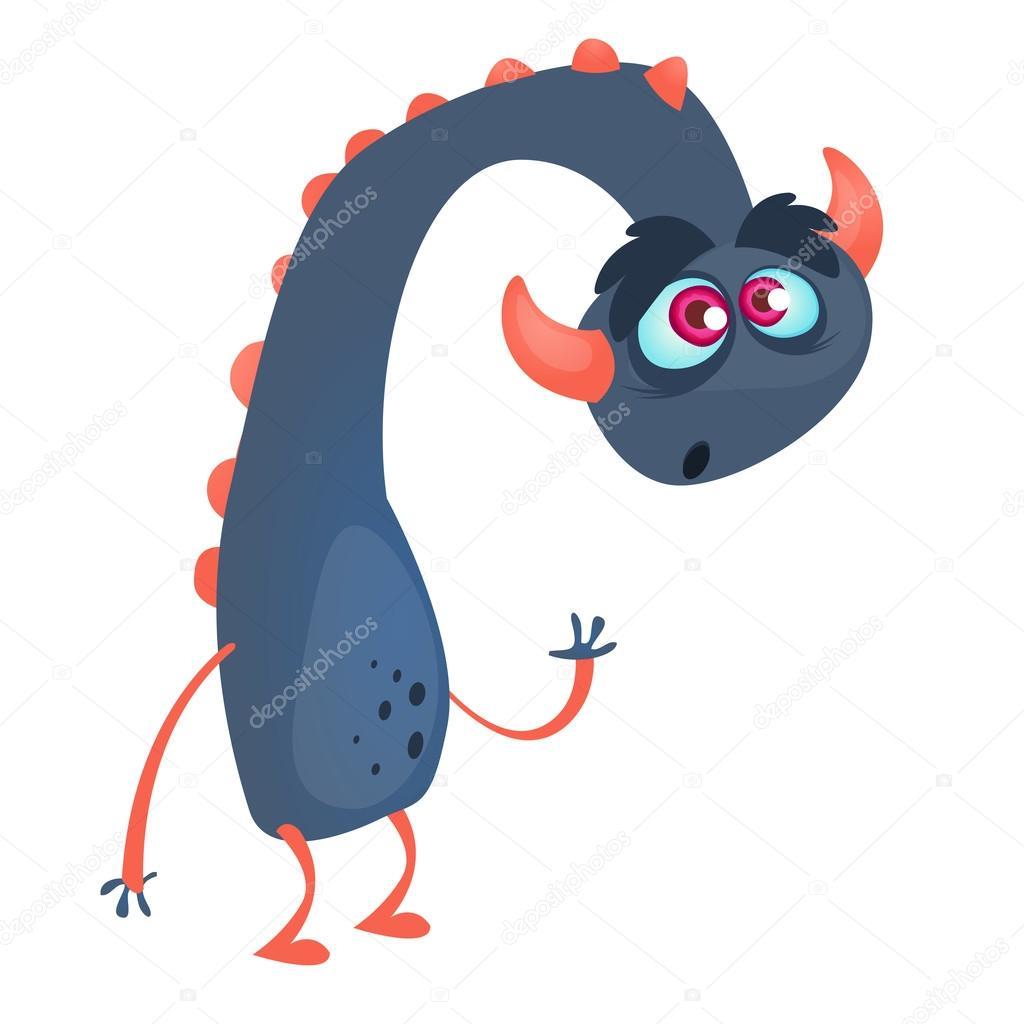 Sfondo Drago Blu Drago Blu Mostro Del Fumetto Illustrazione Di