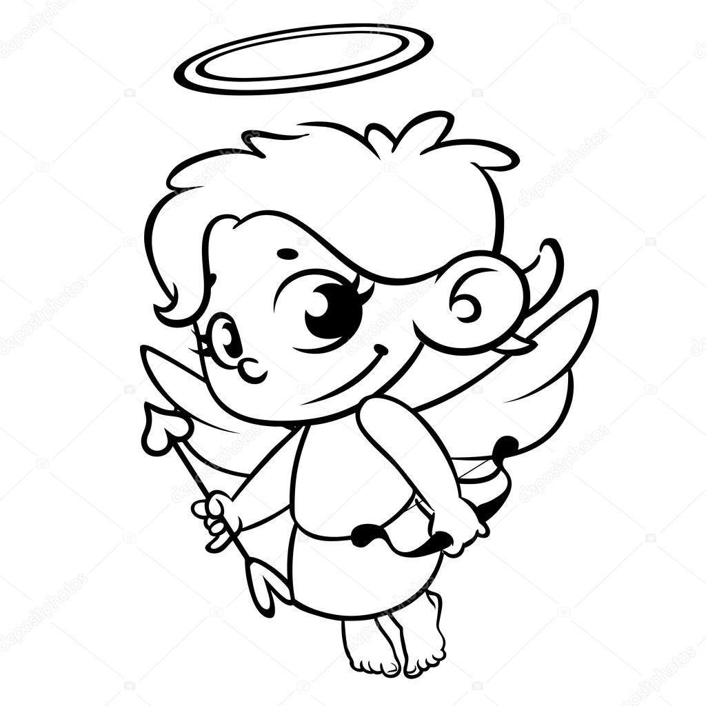 Funny Cupidon Avec Arc Et Fleche Illustration D Une Saint Valentin