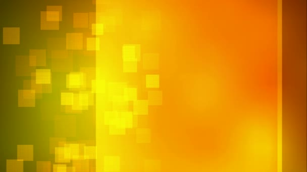 Animated nice visual slow moving orange yellow many boxes particles on bright backdrop technology space science showbiz movie entertainment celebration based broadcasting programs background texture