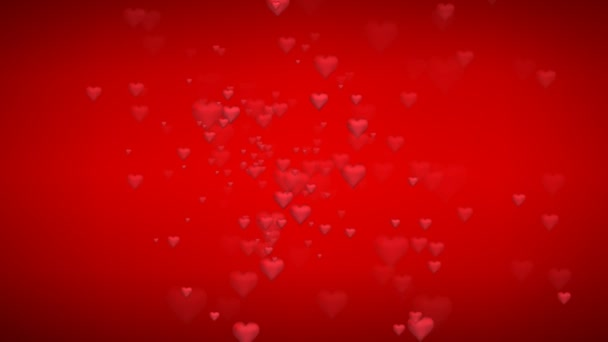 Animated many moving small red hearts useful greeting for wishing and celebrating valentines day and a virtual set background