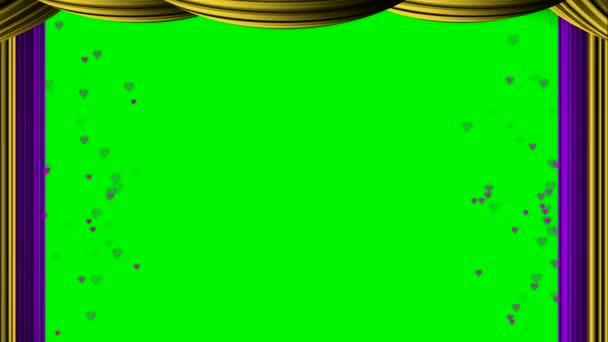 Animált zoom lila kis szívét függöny zöld képernyő chroma key Oscar díjat film felülvizsgálati szakaszban Térkép szórakoztató alapú dráma chat talk-show élő adásban műsorszolgáltatás programok hátteret