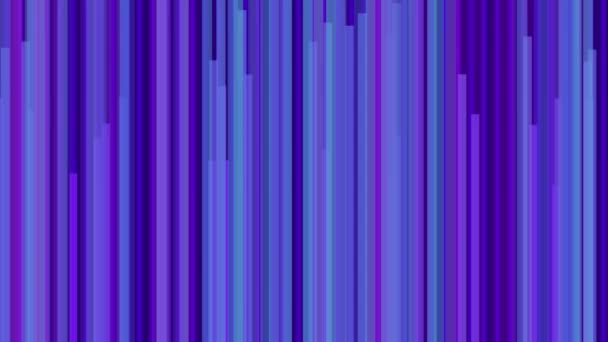 Animated purple blue cyan vertical line bars moving in speed useful as background texture for technology science space hollywood movie entertainment based broadcasting program as virtual set backdrop