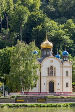 Russian Orthodox Church in Bad Ems on river Lahn in Germany