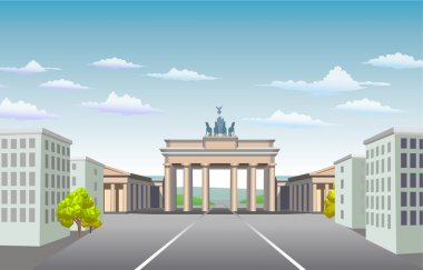 Brandenburg Gate of Germany.