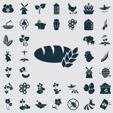 Set of forty agriculture icons