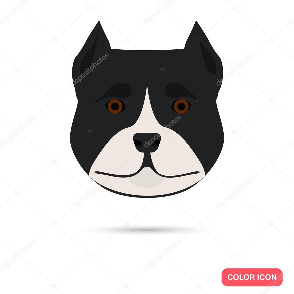 Dog muzzle color icon